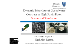 geopolymer concrete phd thesis 3 abstract this thesis investigates the potential use of geopolymers to encapsulate intermediate level waste (ilw), particularly magnox swarf contaminated with al metal and cs/sr-loaded clinoptilolite.