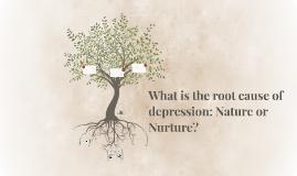 depression nature vs nurture