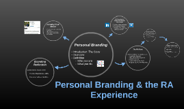 Personal Branding & the RA Experience