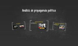 Análisis de propaganda política