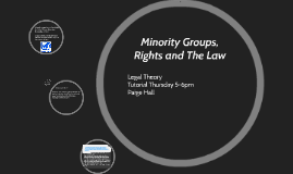 Minority Groups and The Law