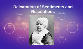 Delcaration of Sentiments and Resolutions
