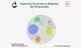 Aspectos Generales y Regimen del Empresario