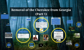 Removal of the Cherokee from Georgia (Part 1)