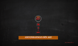 ABDURRAHMAN BİN AVF