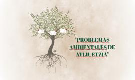 """""""PROBLEMAS AMBIENTALES DE ATLIUETZIA"""""""