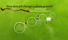 How does pH change a plants growth?