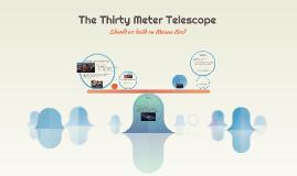 The Thirty Meter Telescope