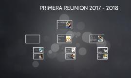 PRIMERA REUNION 2014 - 2015