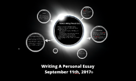 Writing A Personal Essay