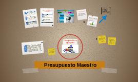 Copy of Ejemplos Y Casos Practicos De Un Presupuesto Maestro