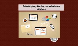 Copy of  Estrategias y tácticas de relaciones públicas