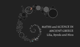 Maths and Science in Ancient Greece