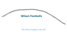 Wilson's Football