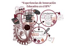 LA INNOVACIÓN EN LA PLANEACIÓN EDUCATIVA EN EL IPN