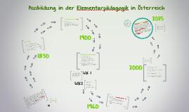 Ausbildung in der Elementarpädagogik in Österreich