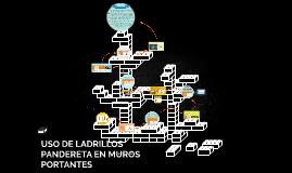 USO DE LADRILLOS PANDERETA EN MUROS PORTANTES