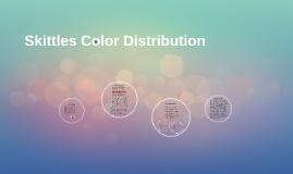 Skittles Color Distribution