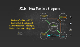 ASLIE : New Masters Programs
