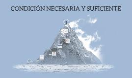 CONDICIÓN NECESARIA Y SUFICIENTE