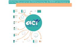 Informe Situacional de DDH en Honduras.