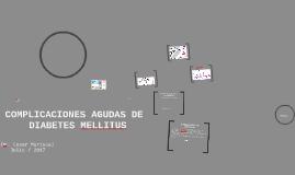 Copy of Manejo de Diabetes en Urgencias