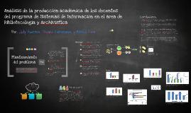 Análisis de la producción académica de los docentes del programa de Sistemas de Información - Universidad De La Salle