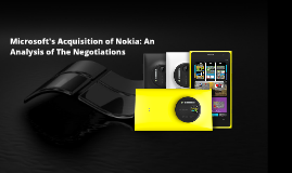 Copy of The Microsoft-Nokia Acquisition Negotiations