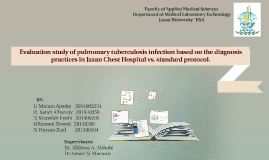 Evaluation study of pulmonary tuberculosis infection based o