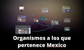 Organismos a los que pertenece Mexico