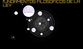 fUNDAMENTOS FILOSOFICOS DE LA LEY