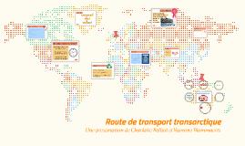 Route de transport transarctique