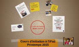 Cours d'initiation à l'iPad