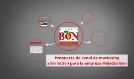 Propuesta de canal de marketing alternativo para la empresa