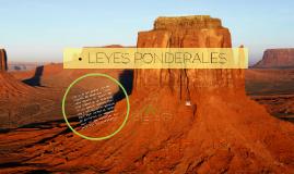 LEYES PONDERALES
