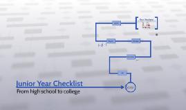 Junior Year Checklist
