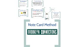 East New York- Note Card Method