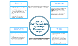Coca Cola Swot Analysis 2013 by Strategic Management Insight