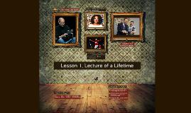 능률 LESSON 1. Lecture of a Lifetime