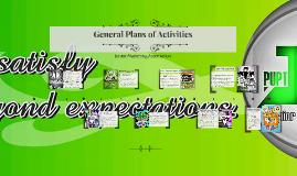 General Plans of Activities