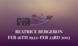 BEATRICE BERGERON