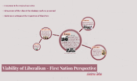 Viability of Liberalism - First Nation Perspective