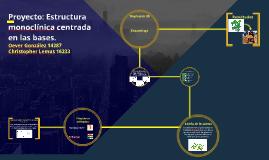 Proyecto: Estructura monoclínica centrada en las bases.