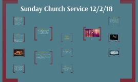 Sunday Church Service 12/2/18