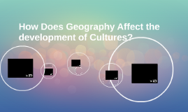 How Does Geography Affect the development of Cultures?