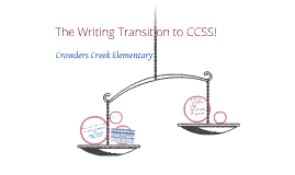 Copy of CCES - Writing:  Transition fo CCSS