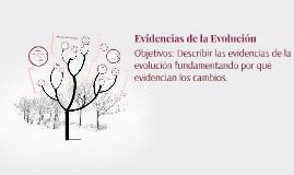 Evidencias de la Evolución y Filogenia