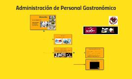 Administración de Personal Gastronómico