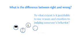 What is the difference between right and wrong? To what exte