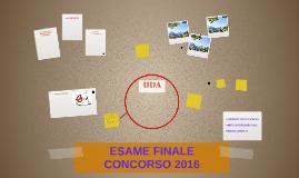 ESAME FINALE CONCORSO 2016